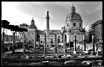 Piazza Foro Traiano et Colonna Traiana Rome nb