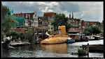 Amsterdam the yellow submarine of Bickersgracht